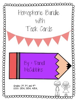 Homophone Bundle with Task Cards