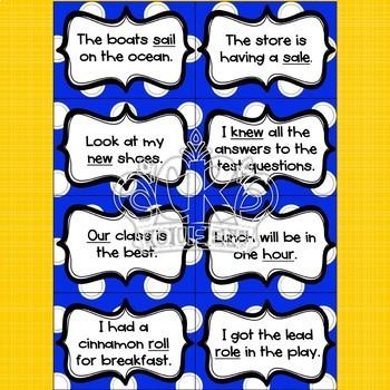 Homophone Card Game