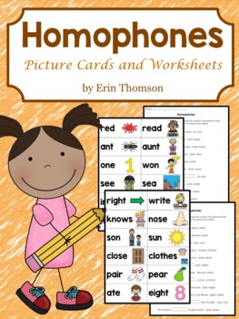Homophone Picture Cards and Worksheets