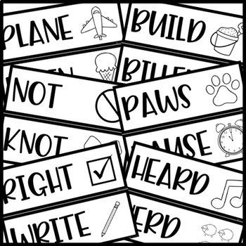 Homophone Cards - Word Wall