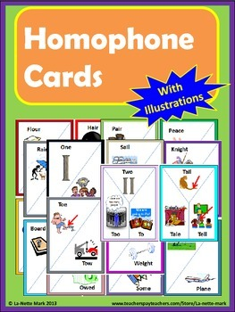 Homophone Cards with Illustrations