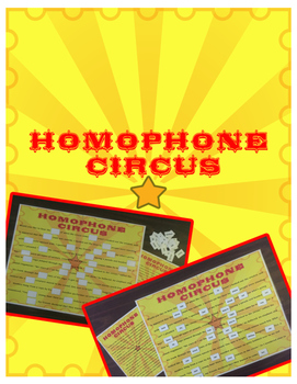 Homophone Circus Game