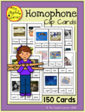 Homophone Clip Cards - 150 Cards with Real Pictures