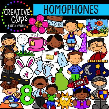 Homophone Clipart {Creative Clips Digital Clipart}
