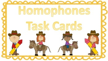 Homophone Clues Task Cards