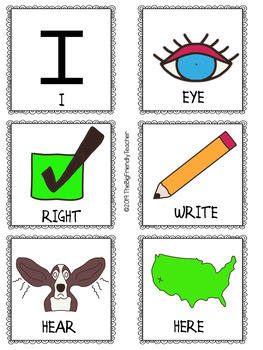 Homophone Concentration: A matching card game of memory for students