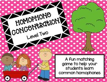 Homophone Concentration Level 2