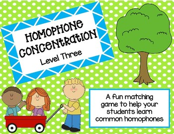 Homophone Concentration Level 3