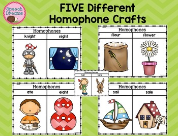 Homophone Crafts {Receptive Expressive Language Kit}