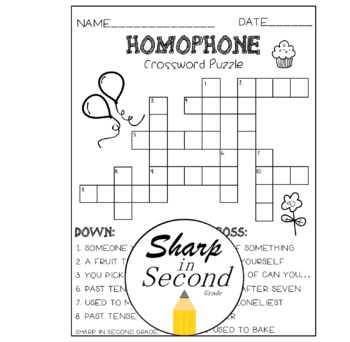 Homophones: Crossword Puzzles & Playing Cards