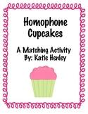Homophone Cupcake Matching Game