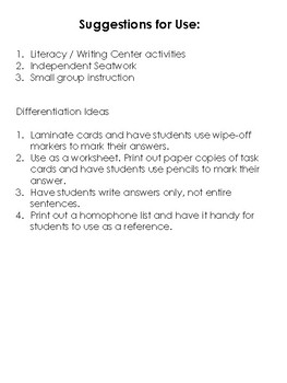 Homophone Daily Vocabulary Workbook