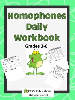 Homophone Daily Vocabulary Workbook