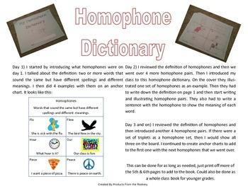 Homophone Dictionary
