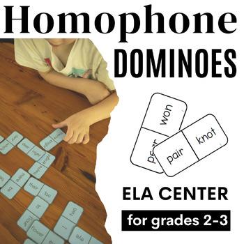 Homophone Dominoes ELA Center for 1st-3rd Grade