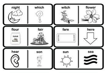 Homophone Dominos - Literacy Activity