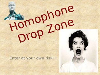 Homophone Drop Zone Game