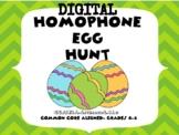 Homophone Egg Hunt Digital Google Slides Easter Activity