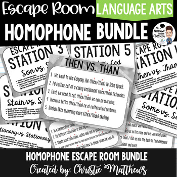 Homophone Escape Room Bundle
