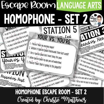 Homophone Escape Room Set 2