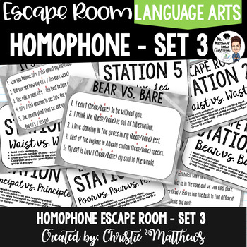 Homophone Escape Room Set 3