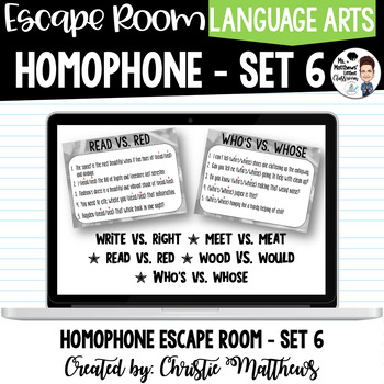 Homophone Escape Room Set 6