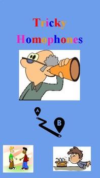 Homophone Examples FREEBIE