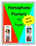 Homophone Posters: CHEAP - 65 Pages!