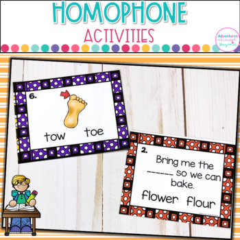 Homophone-Task Cards, Matching Game and Printables