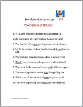 Homophone Fun: Reviews or Practices (2)