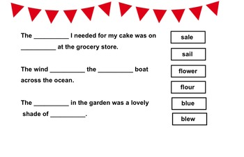 Homophone Game - Reading SOL Review