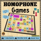 Homophone Games with 4 Levels of Difficulty