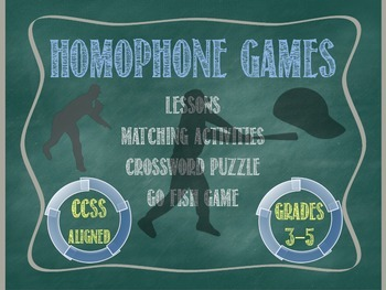 Homophone Games - CCSS Aligned