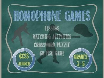 Homophone Games - CCSS Aligned