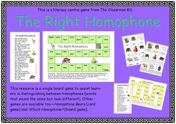 Homophone Games Kit