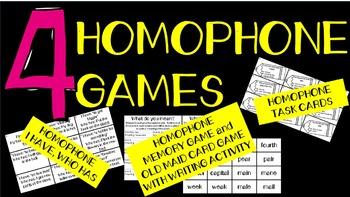 Homophone Games and Activities