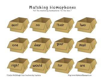 Homophone Games and Worksheets!