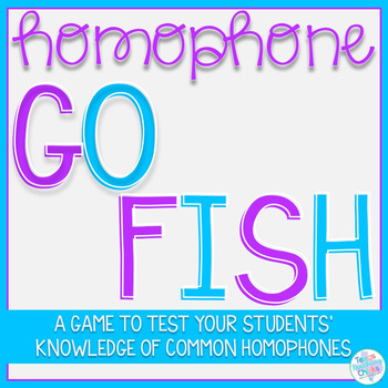 Homophone Go Fish