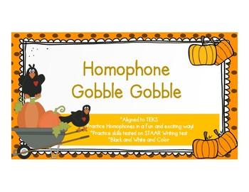 Homophone Gobble Gobble