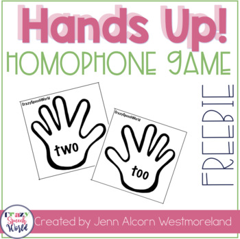 Homophone Hands {Freebie}