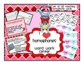 Homophone Hearts Word Work Center