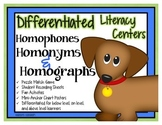 Homophone, Homonym & Homograph Differentiated Center & Unit