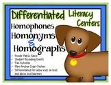 Homophone, Homonym & Homograph Differentiated Center & Unit