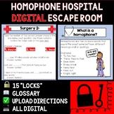Homophone Hospital Digital Escape Room - Distance Learning