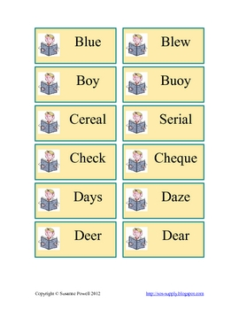 "Homophone Hunt - A ""Now or Later"" Activity"