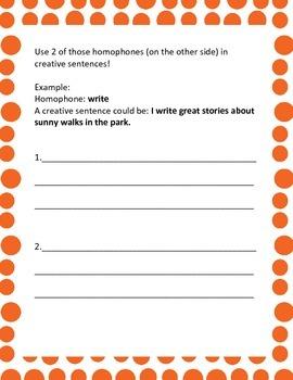 Homophone Hunt Fun!