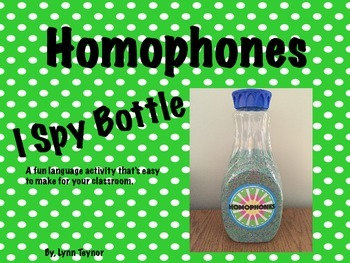 Homophone I Spy Bottle