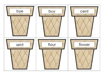 Homophone Ice Cream Cones Game