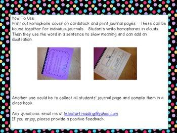 Homophone Journal