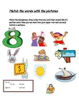 Homophone Lesson Plan and Activities